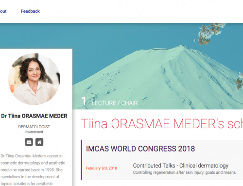 Dr Tiina Meder at IMCAS Congress
